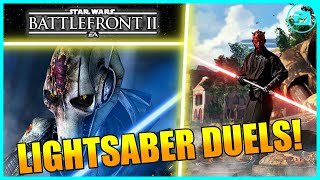1v1 Lightsaber Duels WITH COMMENTARY - Star Wars Battlefront 2 Gameplay!