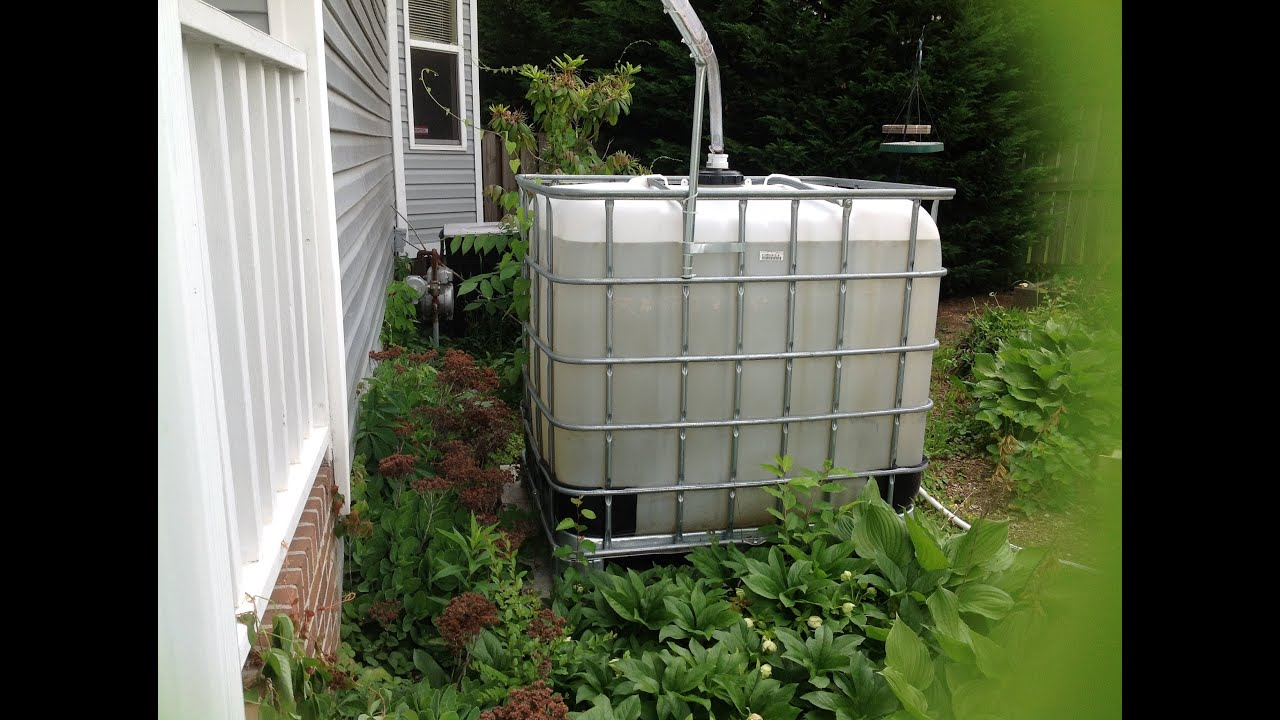 Using An Ibc Tote As A Mosquito Free Rain Barrel Pvc Part