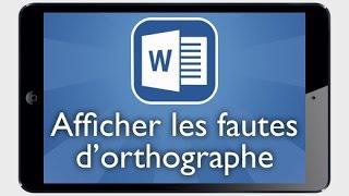 Tutoriel Word iPad - Afficher ou masquer les fautes d