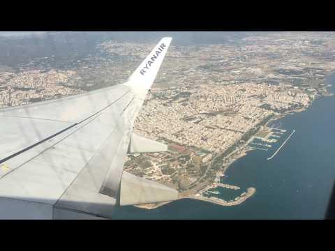 Ryanair takeoff Makedonia Thessaloniki Greece and landing in Gothenburg Landvetter airport