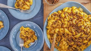 How to Make Quick Pumpkin Mac & Cheese with Spiced Pepitas by Rachael