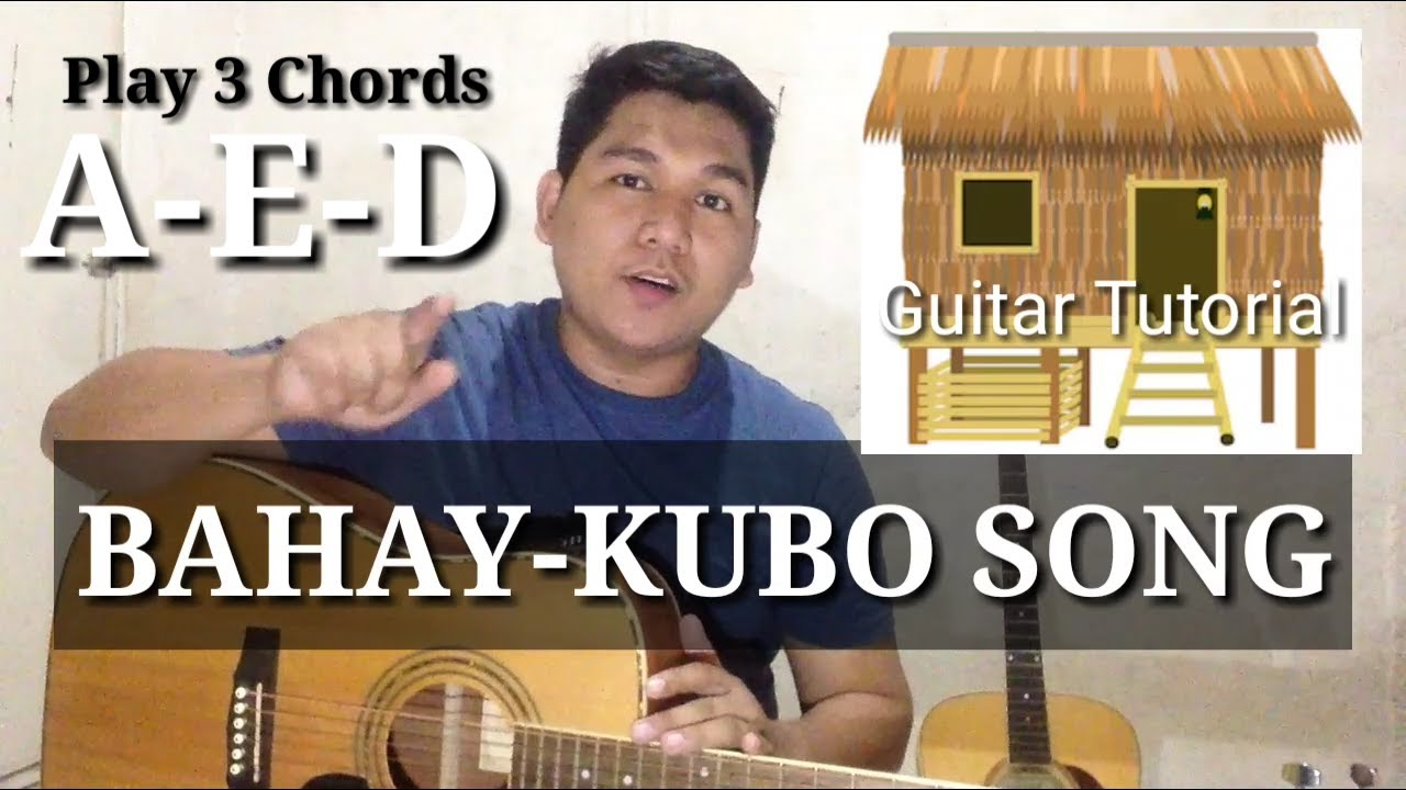 Bahay-Kubo(Easy Guitar)//4Minutes Beginner Guitar Tutorial//Filipino Song by Kuya Nathan - YouTube