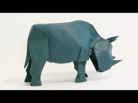 How to make an Origami Rhinoceros