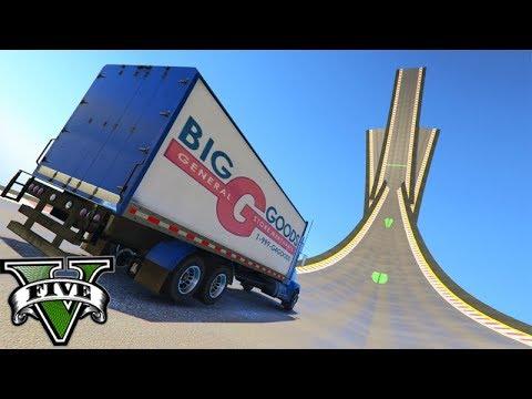 GTA V Online: MEGA RAMPA da MITADA DE CAMINHÃO!!! ÉPICO DEMAIS