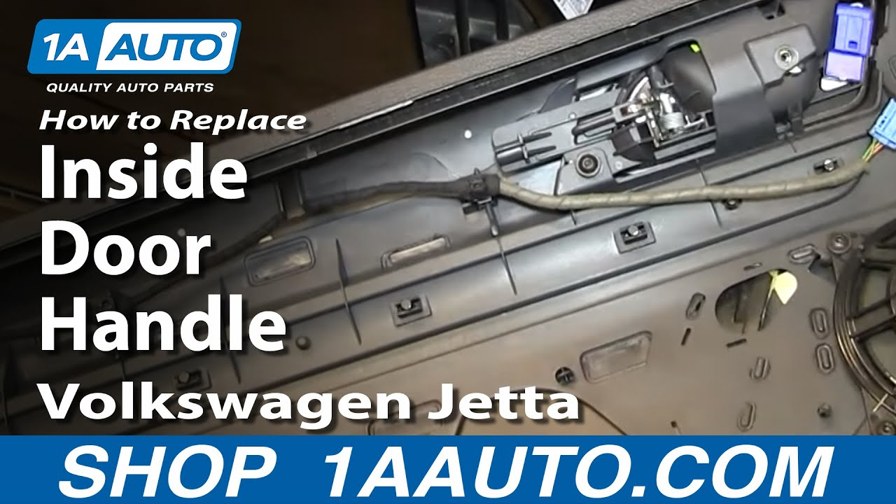How To Install Replace Front Inside Door Handle 2005 10 Volkswagen VW Jetta    YouTube