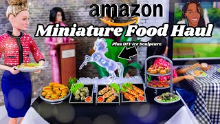 Unbox Daily: Amazon Miniature Food Haul PLUS Mini Ice Sculpture DIY