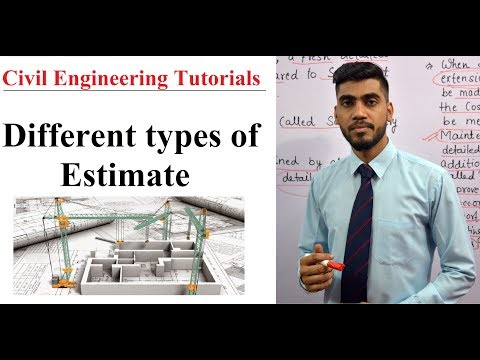 Different Types of Estimate By Munesh Sir|| civil engineering Hindi Video tutorials