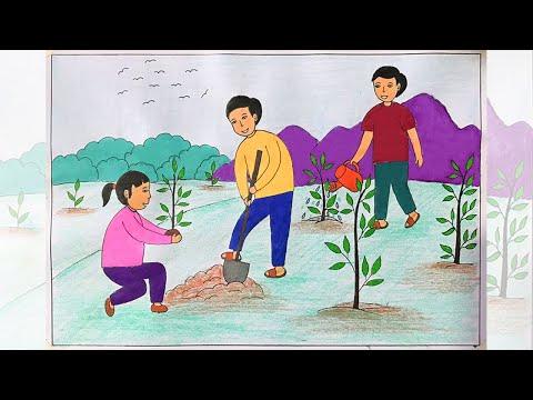 Vẽ tranh vì môi trường tương lai | Vẽ tranh bảo vệ môi trường | Vẽ tranh giữ gìn vệ sinh môi trường