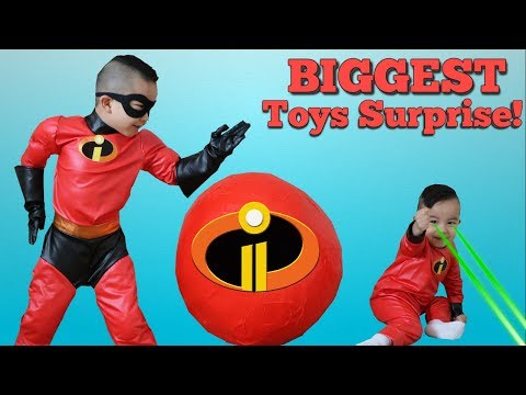 BIGGEST Incredibles 2 Toys Surprise Egg Opening Fun With CKN Toys