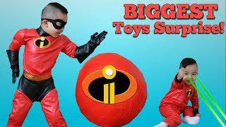Фото B GGEST  Ncredibles 2 Toys Surprise Egg Opening Fun With CKN Toys