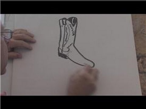 drawing basics how to draw a cowboy boot youtube