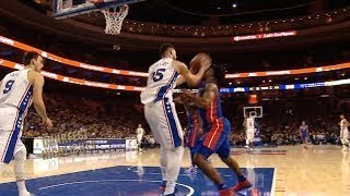 Ben Simmons Nailed Stanley Johnson With The Elbow,Picked up 1st Career Flagrant!