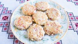 Котлеты из крабовых палочек и сыра Котлети з крабових паличок та сиру Блюда из крабовых палочек