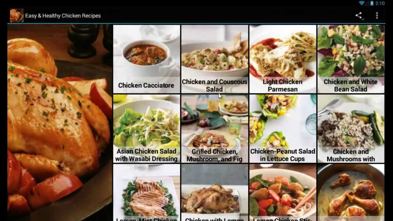 Easy healthy chicken recipes mobile app for android devices youtube forumfinder Images