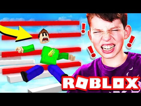 *IMPOSSIBLE* ROBLOX OBBY MADE MY LITTLE BROTHER BREAK HIS COMPUTER!