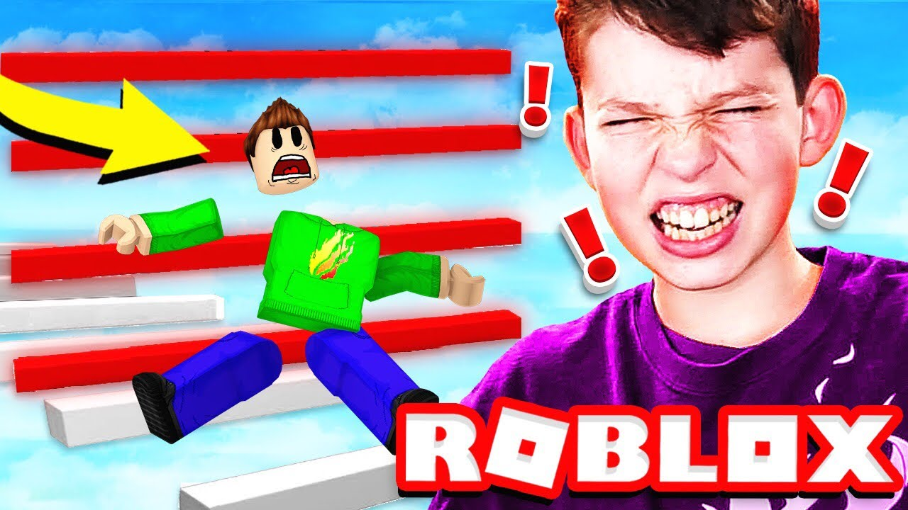 Impossible Roblox Obby Made My Little Brother Break His Computer