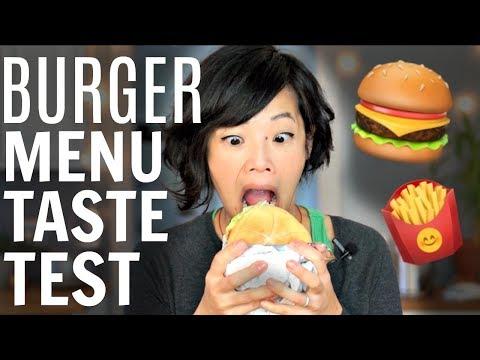 BURGER Menu Taste Test