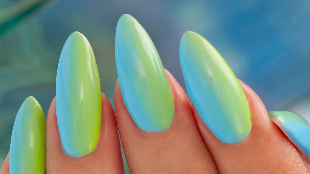 gel ombre nail art - no sponges - youtube