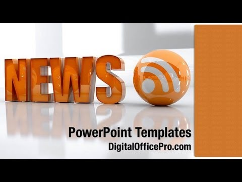 News and RSS PowerPoint Template Backgrounds