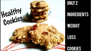 Only two ingredients Healthy cookies | Oat-Banana Cookies|  Diet cookies | Ripe Banana cookies