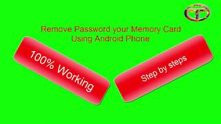 Remove Password your Memory card Using Android Phone 2019
