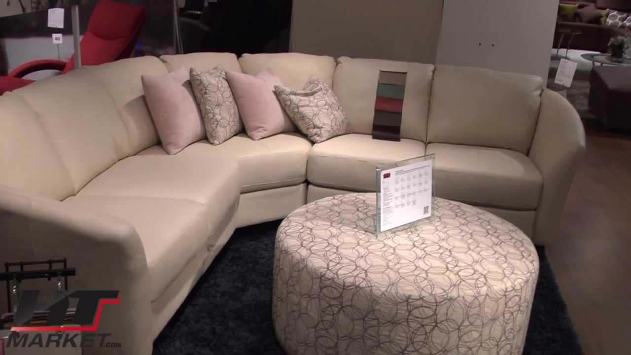 Palliser Alula Sectional Leather Sofa  YouTube