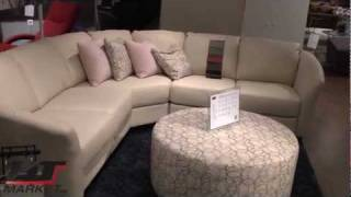Palliser Alula Sectional Leather Sofa