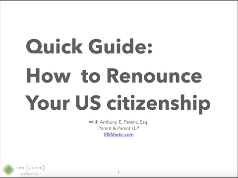 How to Renounce Your US Citizenship: A Quick Start Guide