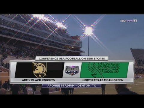 November 18, 2017  Army Black Knights vs North Texas Mean Green Football Game 60fps