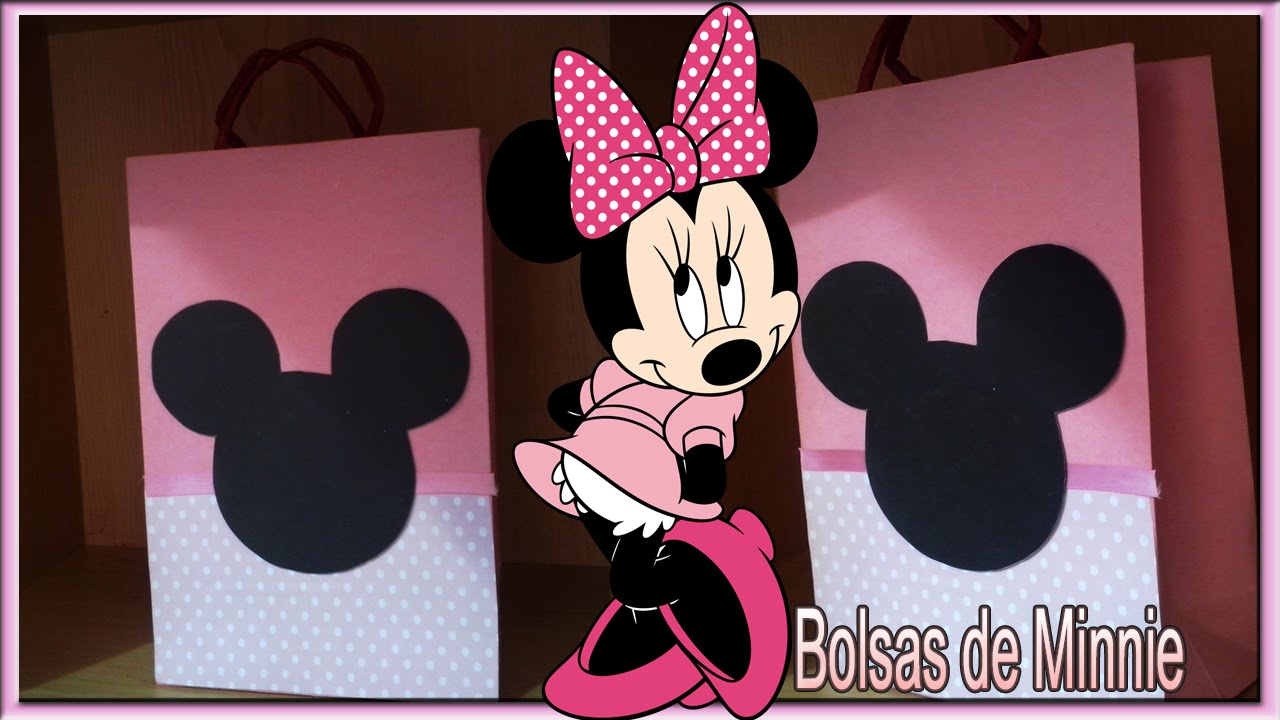 fe243d8e1 DIY Ideas para fiesta de Minnie Mouse Bolsas Cotillon - YouTube