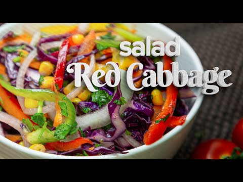 💥 Red Cabbage Salad | Easy Vegan Recipe 🍽️