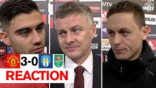 Solskjaer, Matic and Pereira react to Reds win | Manchester United 3-0 Colchester United