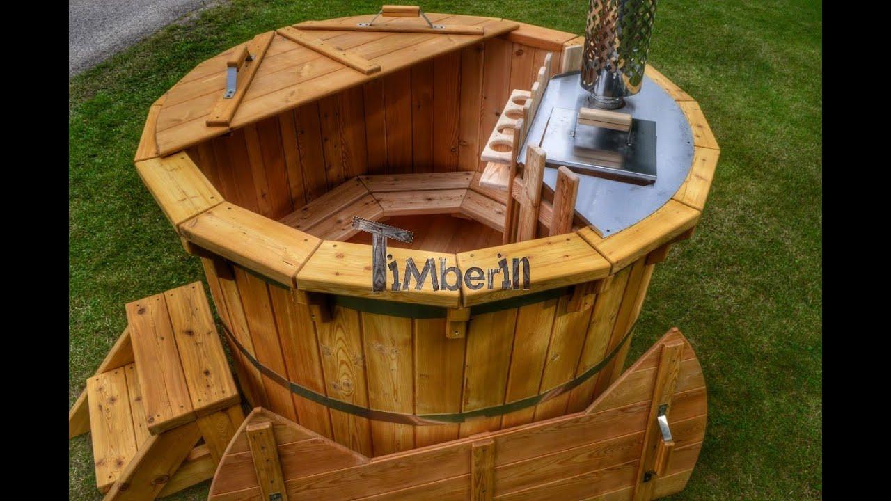Legno vasca idromassaggio modello deluxe timberin youtube - Vasca idro da esterno ...