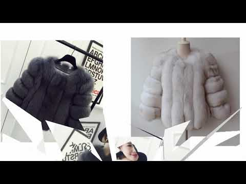 2017 new fashion natural leather and fox fur jacket to buying
