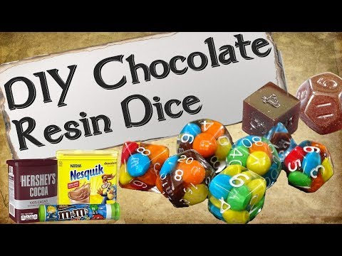 How to Make Your Own Dice Set | Chocolate Resin Dice thumbnail
