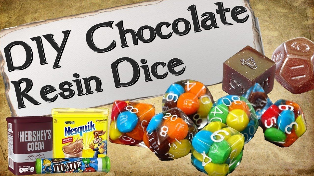 How to Make Your Own Dice Set | Chocolate Resin Dice