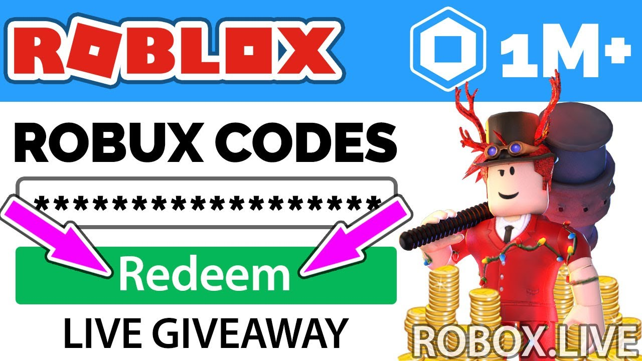 Free Robux Codes Giveaway