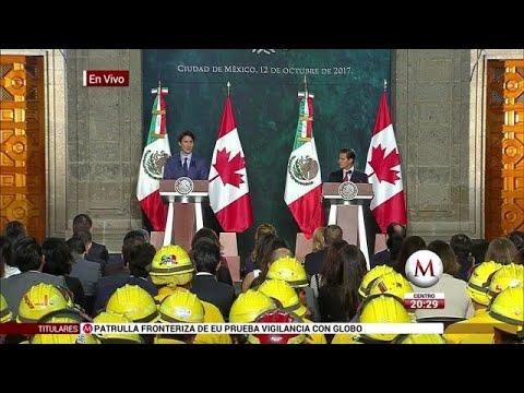 Mensaje a medios de Justin Trudeau y Enrique Peña Nieto