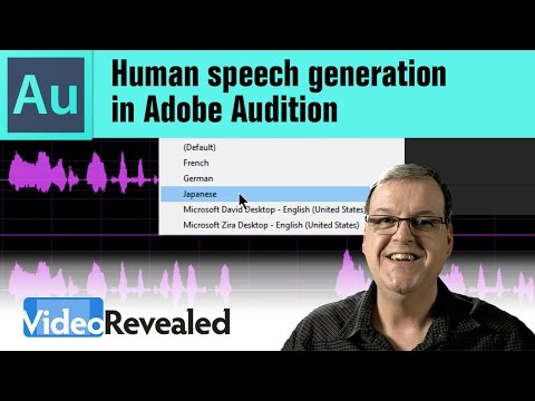 Human speech generation in Adobe Audition