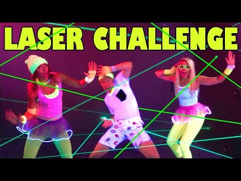 Laser Glow Challenge: Ropes Course, Laser Maze & Mini Golf at GlowZone. Totally TV