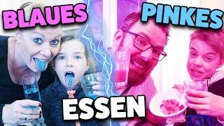 BLAUES Essen 💧 vs. PINKES Essen 🍇 Lulu & Leon