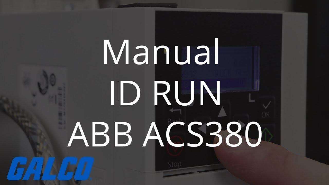 How to do a Manual ID Run on ABB ACS380 AC Drive