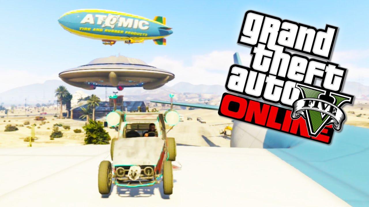 GTA 5 Funny Moments - GTA 5 Online UFO, Cargo Plane, Space