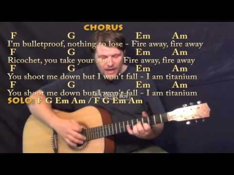 Titanium (David Guetta) Strum Guitar Cover Lesson With Chords/Lyrics - Capo 3rd