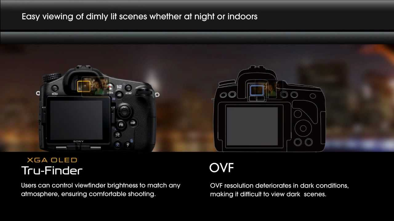 Sony Alpha Tru Finder Evf Vs Traditional Ovf Youtube