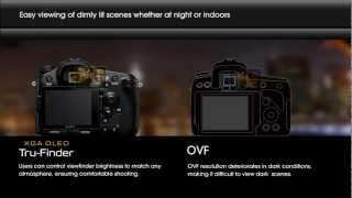 Sony Alpha - Tru Finder (EVF) vs. Traditional (OVF)