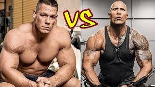 "John Cena vs Dwayne Johnson ""The Rock"" Transformation 2018"