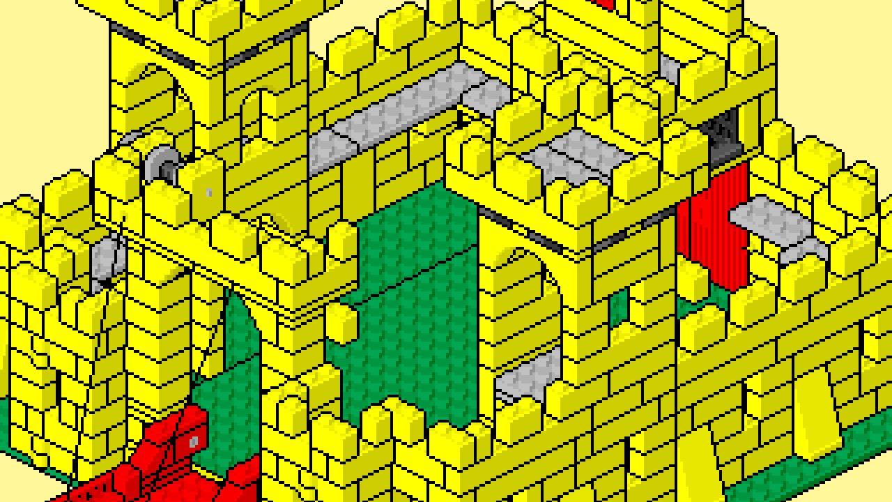 Lego Instructions Pixel Art Movie 375 Castle Youtube