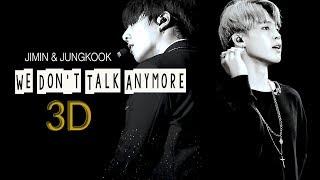 [3D+LYRICS] BTS JIMIN & JUNGKOOK - WE DON'T TALK ANYMORE (Use Headphone)