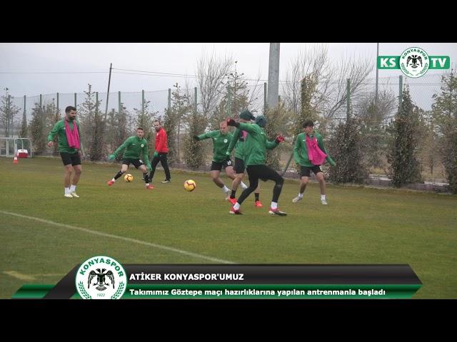 Atiker Konyaspor'umuz yapılan antrenmanla Göztepe maçı hazırlıklarına başladı